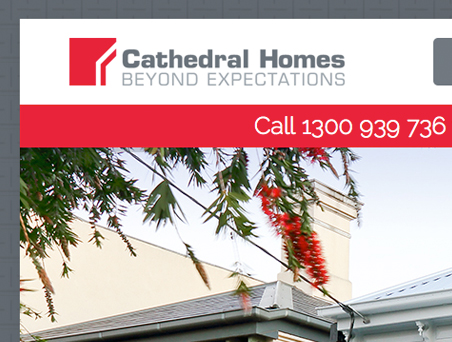 Cathedral Homes website